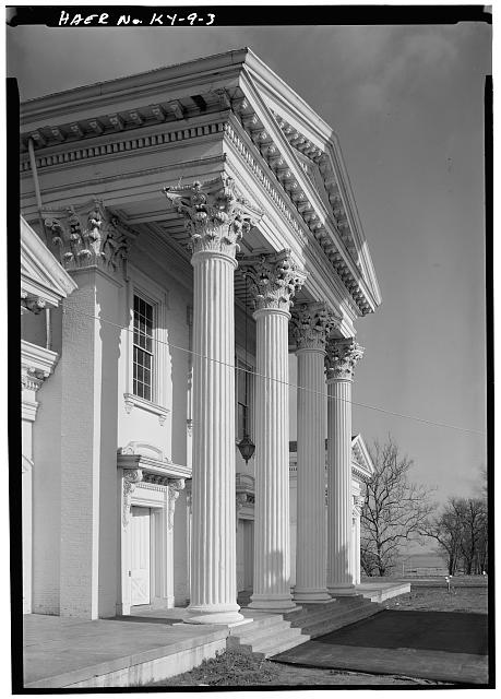 3.  Portico of Pumping Station No. 1 - Louisville Water Company Pumping Stations, Zorn Avenue & River Road, Louisville, Jefferson County, KY