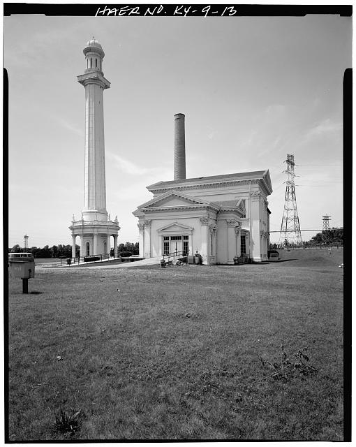 13.  EAST VIEW OF SIDE ELEVATION - Louisville Water Company Pumping Stations, Zorn Avenue & River Road, Louisville, Jefferson County, KY
