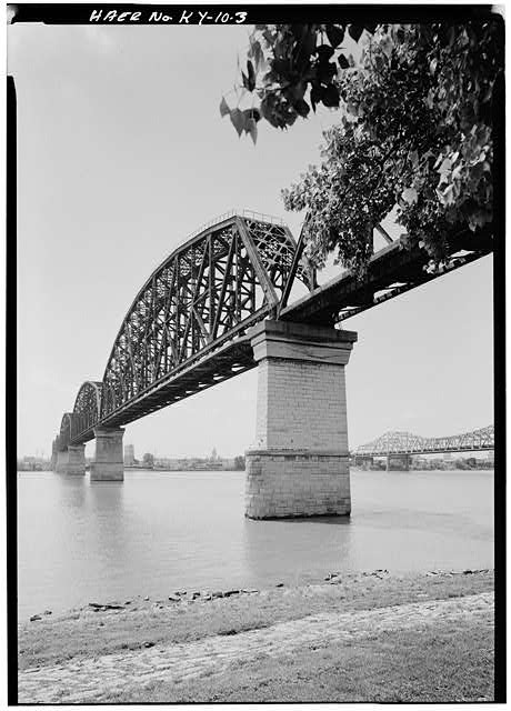 3.  General view of the bridge from the northeast. - Big Four Bridge, Spanning Ohio River, Louisville, Jefferson County, KY