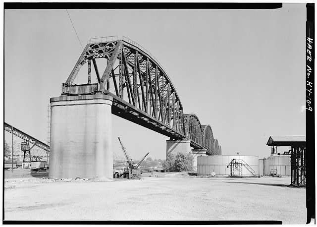 9.  General view of southern approach span. - Big Four Bridge, Spanning Ohio River, Louisville, Jefferson County, KY