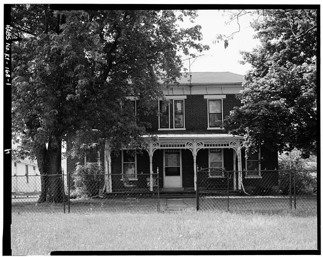 1.  NORTH FRONT - John Bierly House, State Route 8, Vanceburg, Lewis County, KY