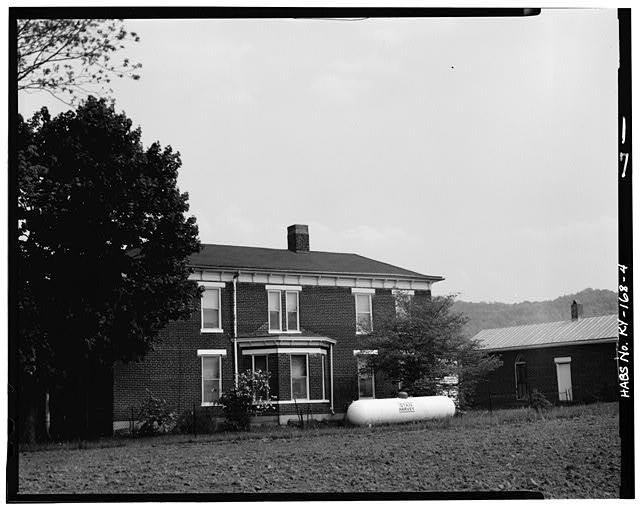 4.  WEST SIDE - John Bierly House, State Route 8, Vanceburg, Lewis County, KY