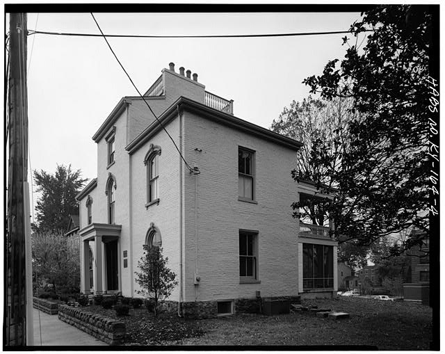 4.  SOUTH (FRONT) AND EAST SIDE ELEVATIONS - Daniel Carter Beard House, 322  East Third Street, Covington, Kenton County, KY