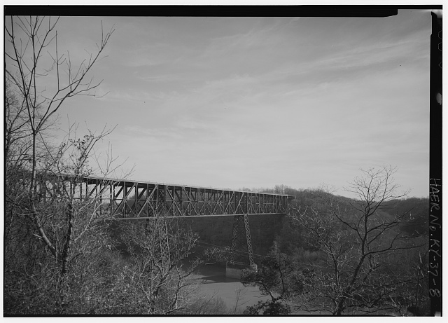 8.  GENERAL VIEW LOOKING S. - High Bridge, 4 miles Southwest of Wilmore, High Bridge, Jessamine County, KY