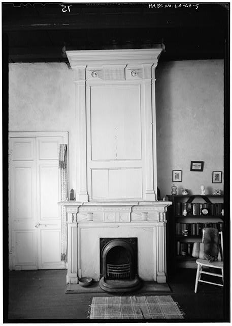 5.  INTERIOR, FIREPLACE - Gaillard House, 915-917 Saint Ann Street, New Orleans, Orleans Parish, LA