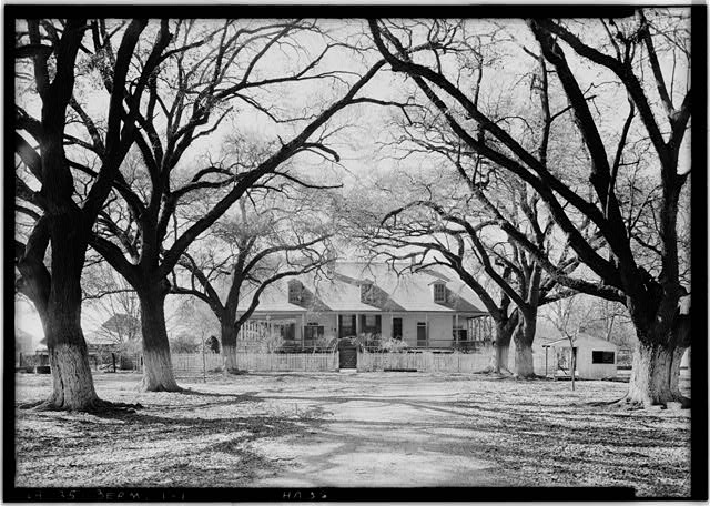 1.  Historic American Buildings Survey Lester Jones, Photographer February 28, 1940 EAST ELEVATION (FRONT) - Bermuda Plantation (Prudhomme Family), Cane River, Bermuda, Natchitoches Parish, LA