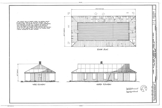 HAER LA,29-THIB,1L- (sheet 1 of 1) - Laurel Valley Sugar Plantation, School House, 2 miles South of Thibodaux on State Route 308, Thibodaux, Lafourche Parish, LA
