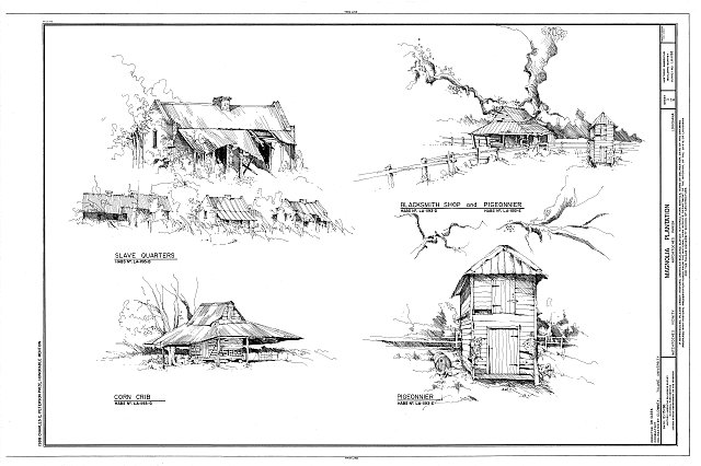 HABS LA,35-NATCH.V,2- (sheet 3 of 4) - Magnolia Plantation, Louisiana Route 119, Natchitoches, Natchitoches Parish, LA