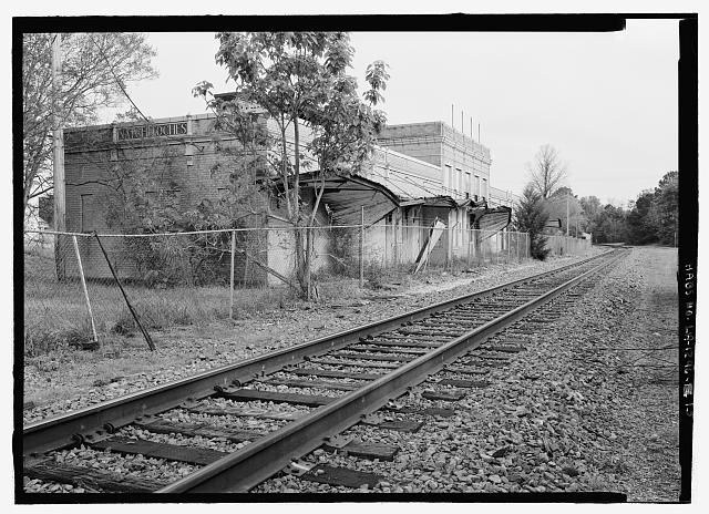 13.  General view from the north northwest of west (track platform) side - Texas & Pacific Railway Depot, Seventh Street, Natchitoches, Natchitoches Parish, LA