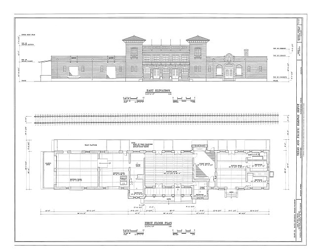 HABS LA-1296 (sheet 1 of 2) - Texas & Pacific Railway Depot, Seventh Street, Natchitoches, Natchitoches Parish, LA