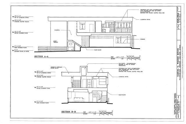 House Sections A-A & B-B - Samuel G. Wiener House, 615 Longleaf Road, Shreveport, Caddo Parish, LA