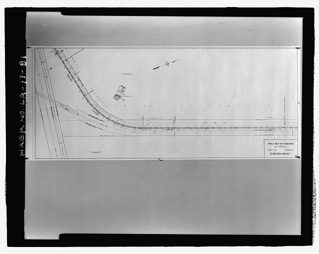 Photographic copy of December 1938 drawing.  Printed copy located in plan files at the New Orleans Public Belt Railroad Administration Office at 5100 Jefferson Highway, Jefferson, Louisiana 70123.  Draftsman Unknown. 1938 DRAWING OF BRIDGE PLAN SHOWING THE WEST BANK ELEVATED RAILROAD APPROACH BEGINNING AT STATION 422.40 AND ENDING AT STATION 369.60. - Huey P. Long Bridge, Spanning Mississippi River approximately midway between nine & twelve mile points upstream from & west of New Orleans, Jefferson, Jefferson Parish, LA