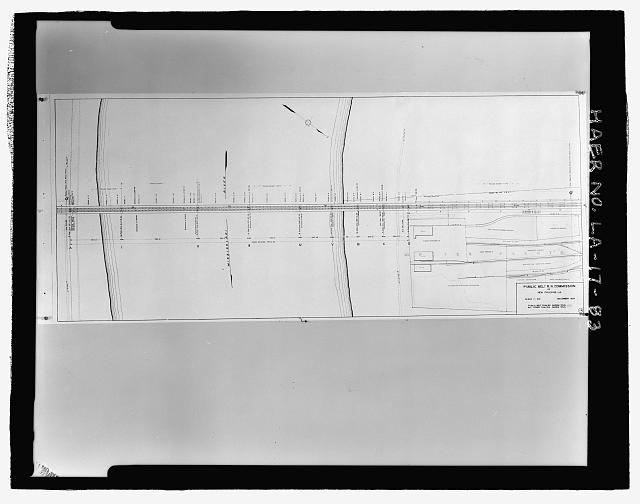 Photographic copy of December 1938 drawing.  Printed copy located in plan files at the New Orleans Public Belt Railroad Administration Office at 5100 Jefferson Highway, Jefferson, Louisiana 70123.  Draftsman Unknown. 1938 DRAWING OF BRIDGE PLAN SHOWING THE MAIN BRIDGE BEGINNING AT STATION 316.80 BEGINNING AT THE WEST BANK OF THE RIVER AND ENDING AT STATION 264.0 AT THE EAST BANK OF THE RIVER. - Huey P. Long Bridge, Spanning Mississippi River approximately midway between nine & twelve mile points upstream from & west of New Orleans, Jefferson, Jefferson Parish, LA