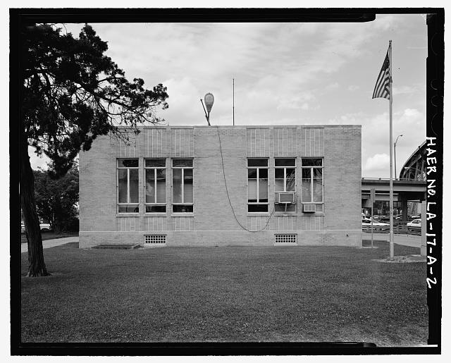 Administration Building Southeast side - Huey P. Long Bridge, Administration Building, 5100 Jefferson Highway, Jefferson, Jefferson Parish, LA