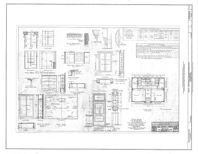 Floor Plan & Details - Huey P. Long Bridge, Administration Building, 5100 Jefferson Highway, Jefferson, Jefferson Parish, LA
