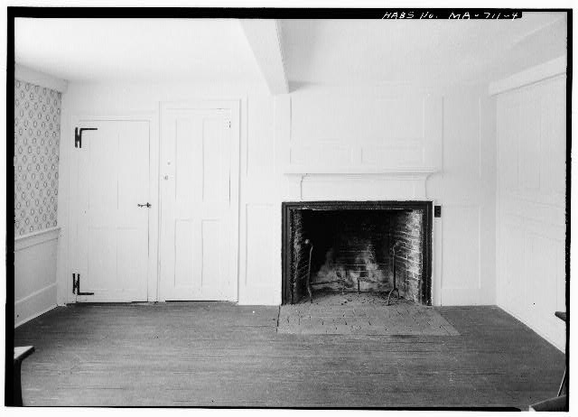 4.  FIREPLACE WALL OF EAST ROOM - Benjamin Collins House, South Pamet Road, Truro, Barnstable County, MA