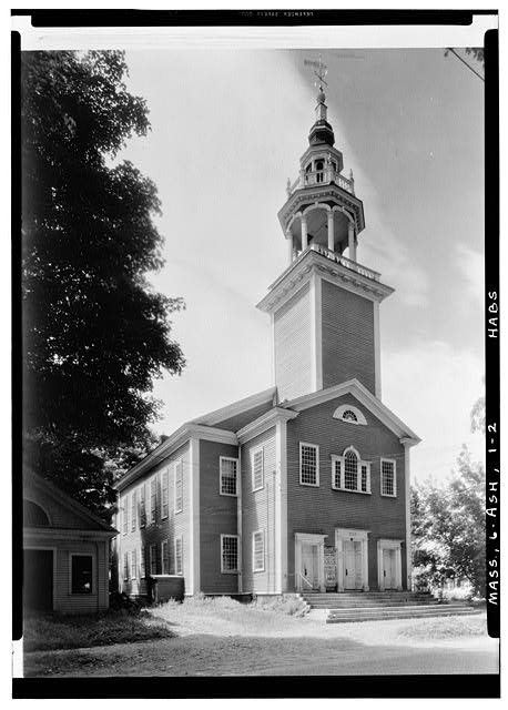 2.  Historic American Buildings Survey Arthur C. Haskell, Photographer Aug. 2, 1935 (b) EXT.- FRONT & SIDE - Town Hall, Main Street, Ashfield, Franklin County, MA