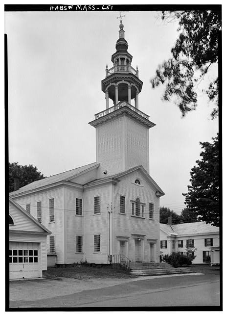 3.  Historic American Buildings Survey Cervin Robinson, Photographer September 1959 EXTERIOR FROM NORTHEAST - Town Hall, Main Street, Ashfield, Franklin County, MA