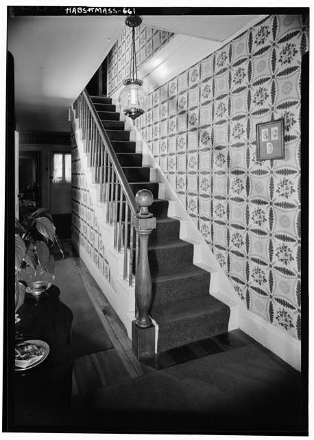5.  Historic American Buildings Survey STAIRCASE - November 1959 - Captain Samuel Lane House, 33 Main Street, Northfield, Franklin County, MA