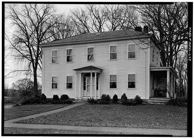 1.   November 1959 FRONT FACADE FROM EAST - Isaac Mattoon House, 26 Main Street, Northfield, Franklin County, MA