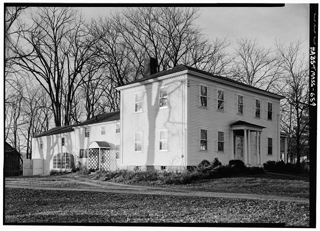 2.   November 1959 SOUTH FACADE (FROM SOUTHEAST) - Isaac Mattoon House, 26 Main Street, Northfield, Franklin County, MA