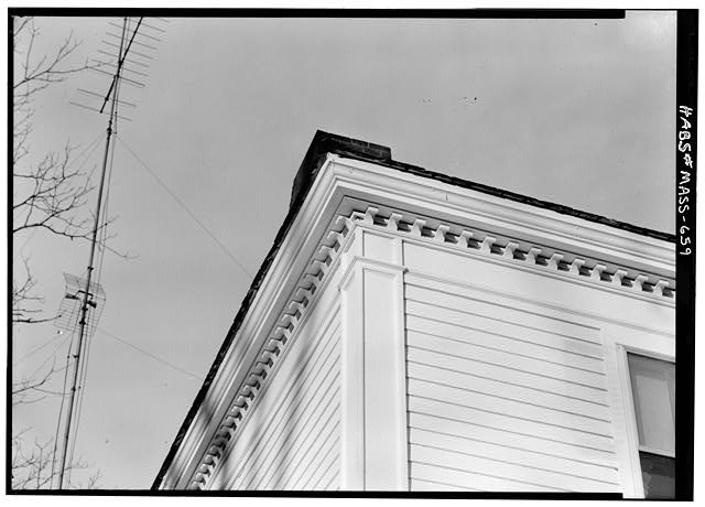5.   November 1959 HOUSE CORNICE - Isaac Mattoon House, 26 Main Street, Northfield, Franklin County, MA