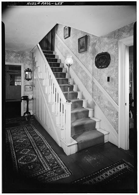 6.   November 1959 STAIRCASE DETAIL - White-Field House, Main & Maple Streets, Northfield, Franklin County, MA
