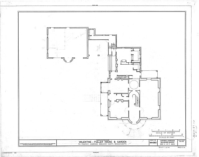 HABS MASS,9-CAMB,10- (sheet 1 of 5) - Valentine-Fuller House & Garden, 125 Prospect Street, Cambridge, Middlesex County, MA