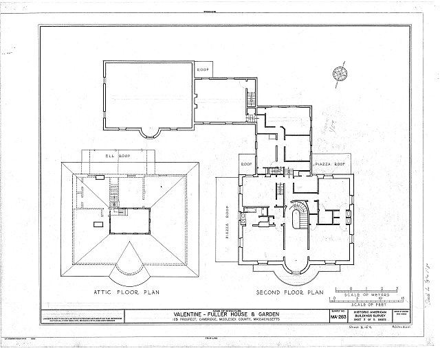 HABS MASS,9-CAMB,10- (sheet 2 of 5) - Valentine-Fuller House & Garden, 125 Prospect Street, Cambridge, Middlesex County, MA