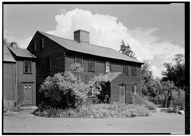 2.  EXTERIOR FROM THE SOUTHWEST - Sergeant Samuel Hartwell House, Virginia Road, Lincoln, Middlesex County, MA