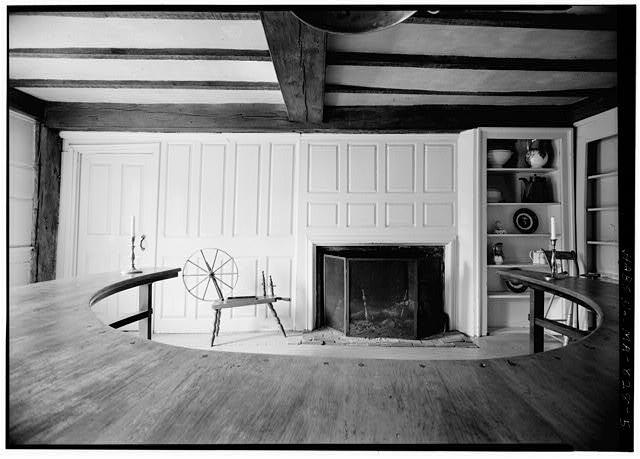 5.  FIREPLACE WALL OF RIGHT-HAND FIRST-FLOOR ROOM - Sergeant Samuel Hartwell House, Virginia Road, Lincoln, Middlesex County, MA