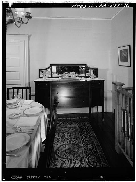10.  FIRST FLOOR, DINING ROOM, VIEW LOOKING EAST - John Fitzgerald Kennedy Birthplace, 83 Beals Street, Brookline, Norfolk County, MA