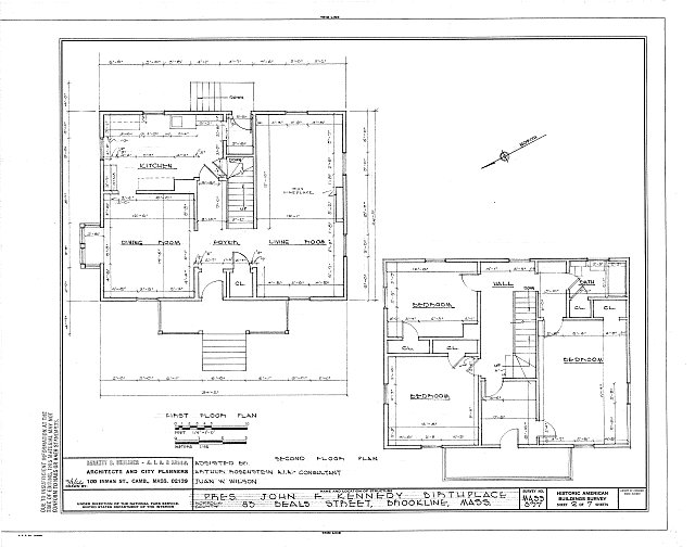 HABS MASS,11-BROK,7- (sheet 2 of 7) - John Fitzgerald Kennedy Birthplace, 83 Beals Street, Brookline, Norfolk County, MA