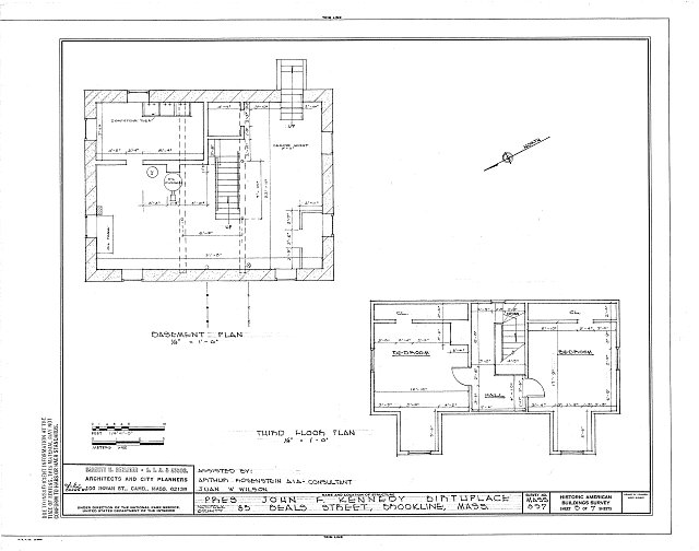 HABS MASS,11-BROK,7- (sheet 3 of 7) - John Fitzgerald Kennedy Birthplace, 83 Beals Street, Brookline, Norfolk County, MA