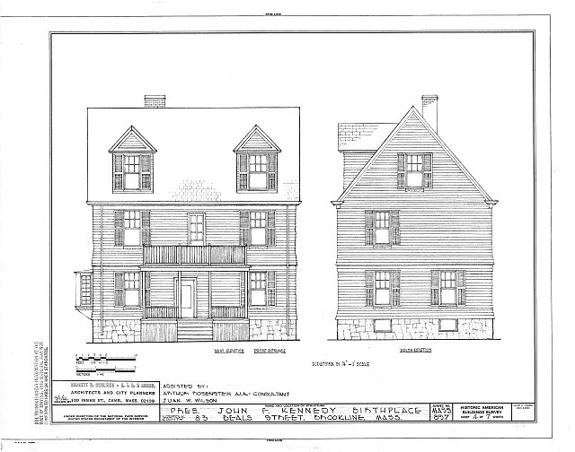 HABS MASS,11-BROK,7- (sheet 4 of 7) - John Fitzgerald Kennedy Birthplace, 83 Beals Street, Brookline, Norfolk County, MA