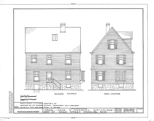 HABS MASS,11-BROK,7- (sheet 5 of 7) - John Fitzgerald Kennedy Birthplace, 83 Beals Street, Brookline, Norfolk County, MA