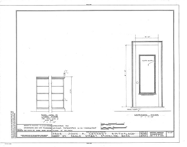 HABS MASS,11-BROK,7- (sheet 7 of 7) - John Fitzgerald Kennedy Birthplace, 83 Beals Street, Brookline, Norfolk County, MA