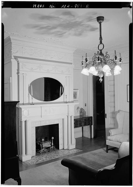5.  LIVING ROOM, FIREPLACE - Lynch-O'Gorman House, 41 Mason Terrace, Brookline, Norfolk County, MA