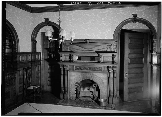 6.  DINING ROOM, FIREPLACE - Lynch-O'Gorman House, 41 Mason Terrace, Brookline, Norfolk County, MA
