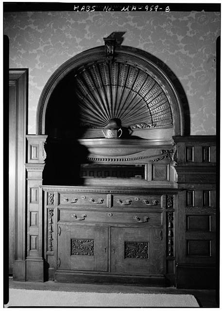 8.  DINING ROOM, BUILT-IN SIDEBOARD - Lynch-O'Gorman House, 41 Mason Terrace, Brookline, Norfolk County, MA