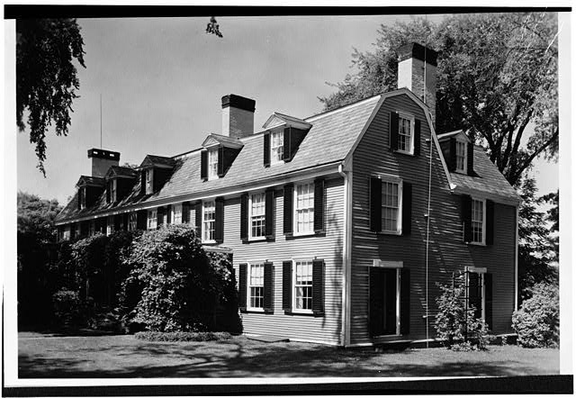 1.  Historic American Buildings Survey Charles E. Peterson, Photographer August 18, 1954 WEST SIDE - Adams Mansion, 135 Adams Street, Quincy, Norfolk County, MA