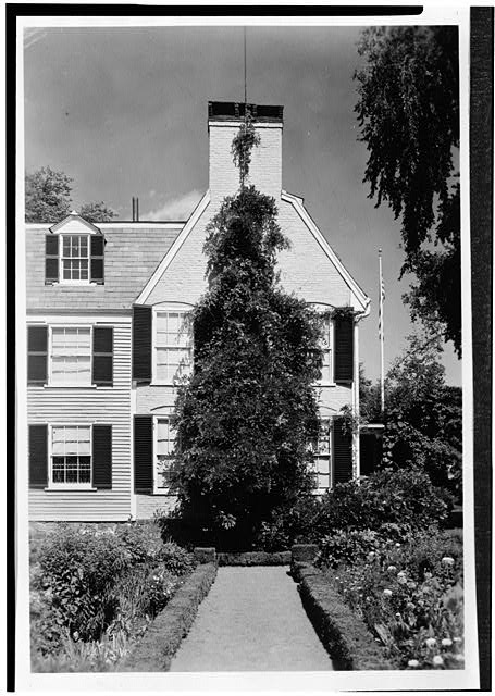 4.  Historic American Buildings Survey Charles E. Peterson, Photographer August 18, 1954 NORTHWEST VIEW OF REAR - Adams Mansion, 135 Adams Street, Quincy, Norfolk County, MA