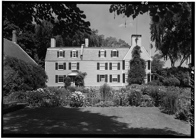 West side of house - Adams Mansion, 135 Adams Street, Quincy, Norfolk County, MA