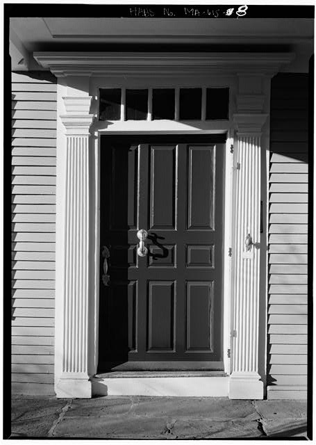 Entrance frontispiece and door - Adams Mansion, 135 Adams Street, Quincy, Norfolk County, MA