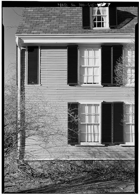 South elevation, west end - Adams Mansion, 135 Adams Street, Quincy, Norfolk County, MA