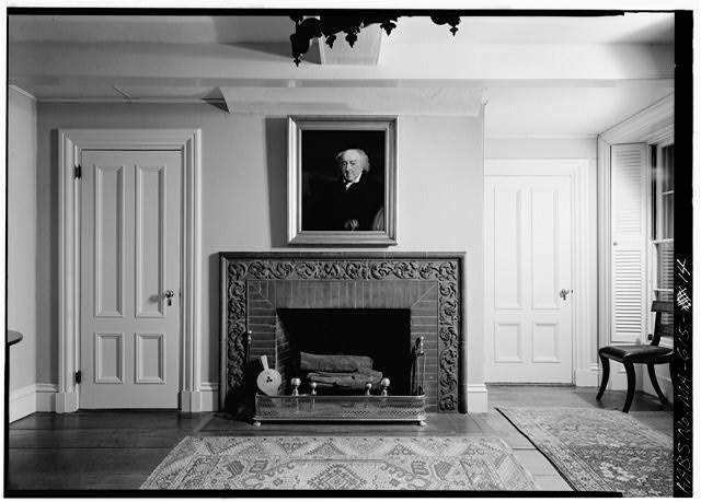Dining room, right-hand portion of original 1731 house, east wall - Adams Mansion, 135 Adams Street, Quincy, Norfolk County, MA