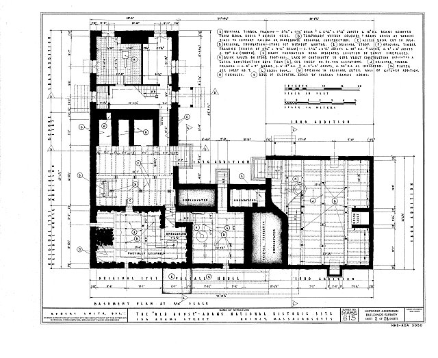 HABS MASS,11-QUI,5- (sheet 2 of 26) - Adams Mansion, 135 Adams Street, Quincy, Norfolk County, MA