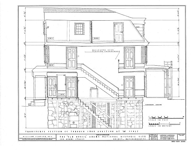 HABS MASS,11-QUI,5- (sheet 22 of 26) - Adams Mansion, 135 Adams Street, Quincy, Norfolk County, MA