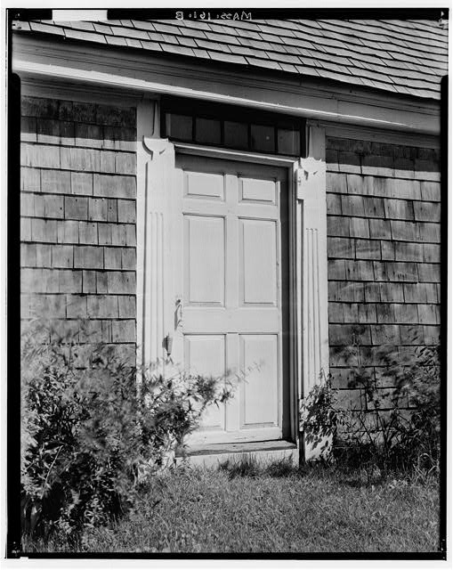 4.  Historic American Buildings Survey Arthur C. Haskell, Photographer. 1935. (b) Ext-Detail, West Entrance. - Joseph Atwood House, Atwood Street, Chatham, Barnstable County, MA