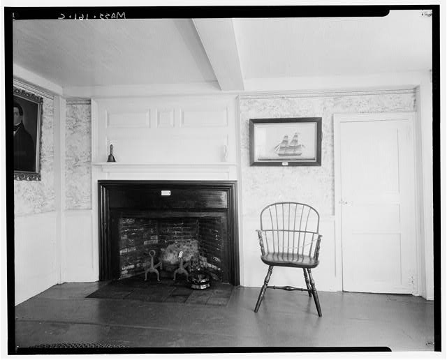 5.  Historic American Buildings Survey Arthur C. Haskell, Photographer. 1935. (c) Detail, Fireplace Wall, N. W. Parlor. - Joseph Atwood House, Atwood Street, Chatham, Barnstable County, MA